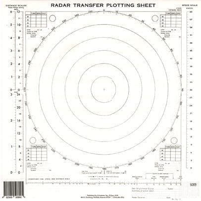 Radar Transfer Plotting Sheets