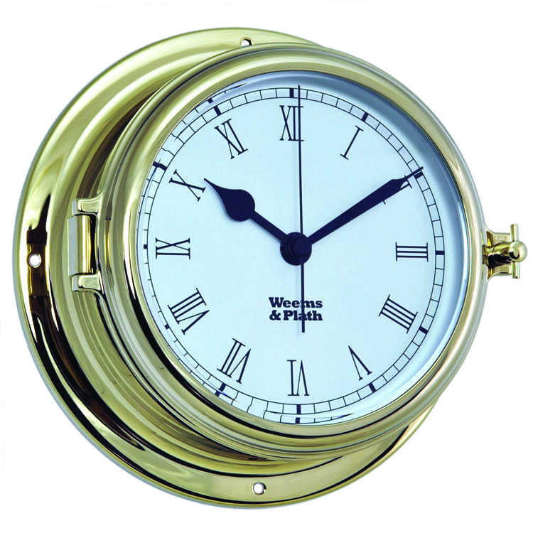 Weems & Plath Brass Roman Numeral Clock (Endurance II 115)