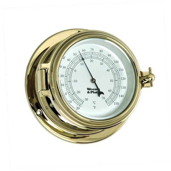 Weems & Plath Brass Barometer/Thermometer (Endurance II 135)